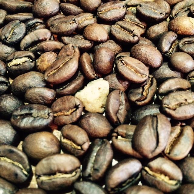 小石混じりの豆